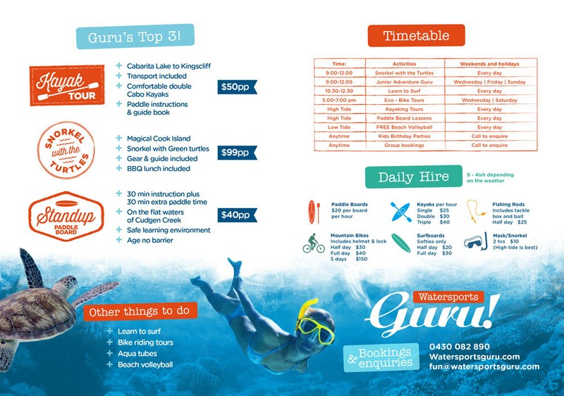 Watersports Timetable