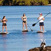 stand up paddle boarding gold coast watersports guru