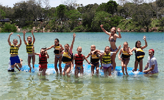 junior adventure guru kingscliff kids activities watersports guru